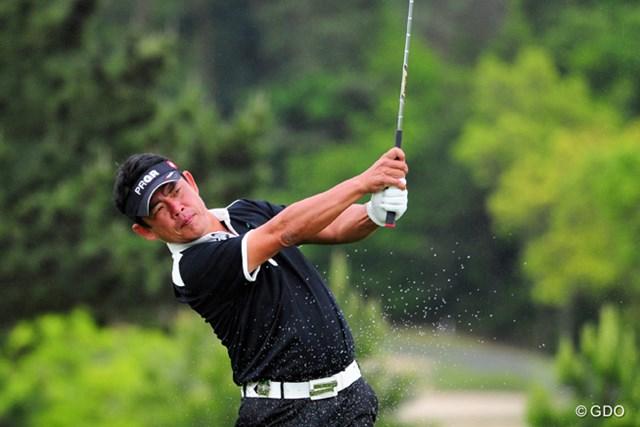 2014年 関西オープンゴルフ選手権競技 2日目 平塚哲二 通算9アンダー首位タイで予選を終えた平塚哲二