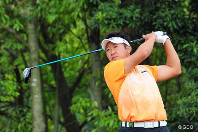 2014年 関西オープンゴルフ選手権競技 2日目 高山忠洋 関西オープン初の予選通過を果たした高山。それどころか、首位に2打差の好位置で週末へ