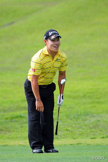 2014年 関西オープンゴルフ選手権競技 2日目 藤本佳則 2位から一歩後退したものの、3日目は最終日のひとつ前でプレーする藤本