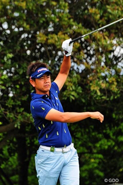 2014年 関西オープンゴルフ選手権競技 2日目 藤田寛之 なんとか2つ伸ばしたけど、トータル1オーバーで予選落ち…。これで今季2回目?ちょっと去年とは勝手が違うんやろか…。