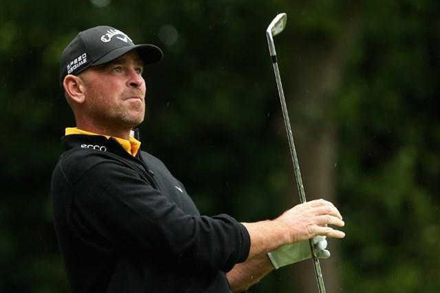 2014年 BMW PGA選手権 3日目 トーマス・ビヨーン 後半に7ストローク伸ばしたトーマス・ビヨーンが2位に5打差のリードを奪った(Andrew Redington/Getty Images)