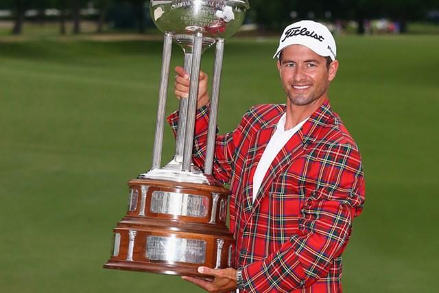 世界ランク1位になった週に逆転で優勝を果たしたアダム・スコット(Tom Pennington/Getty Images)