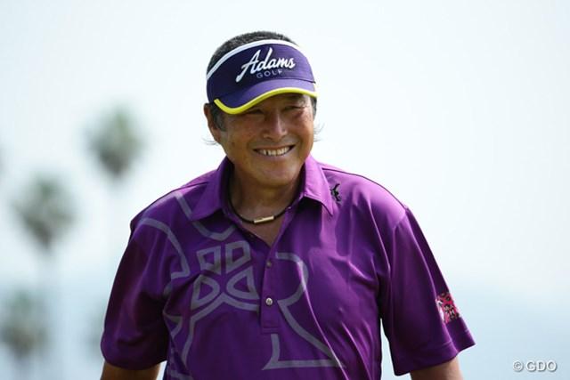 2014年 ~全英への道~ミズノオープン 初日 尾崎将司 父もゴルフカメラマンです。親子2代でこの笑顔を撮っているんだなと感じて、同時にこの人はやはり伝説なのだと感じた1枚