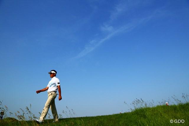 2014年 ~全英への道~ミズノオープン 2日目 上田諭尉 最後の18番池ポチャがなければ今日のゴルフはこの青空のようだったはず、、、
