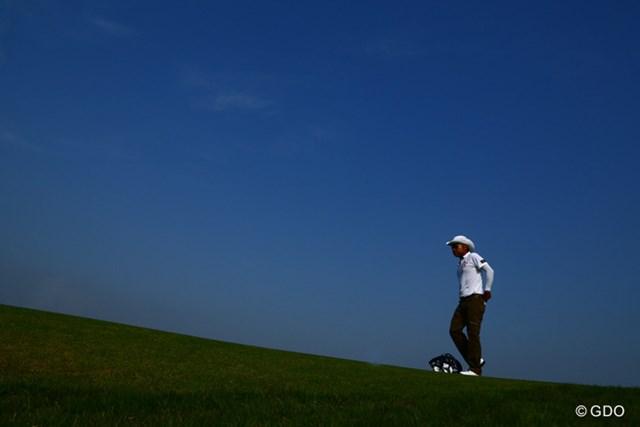 2014年 ~全英への道~ミズノオープン 2日目 片山晋呉 今週のコースは空がとても綺麗に撮れます! 片山選手一枚頂きます!