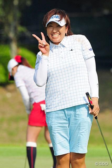 2014年 リゾートトラストレディス 2日目 福嶋晃子 「自信になったし、安心した」。福嶋晃子は産休明け復帰戦で予選通過を果たした