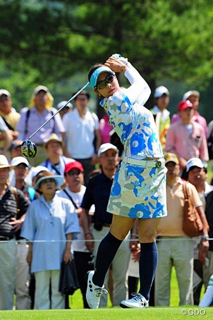 2014年 リゾートトラストレディス 最終日 森田理香子 「調子は徐々に良くなってきている」。森田理香子は中盤のダブルボギーで失速し11位で今大会を終えた