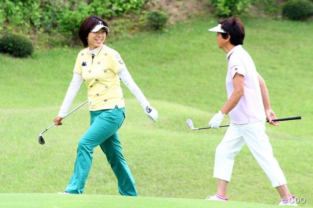 プロアマ戦では樋口久子LPGA相談役とラウンド。「全英」出場を表明した大山志保