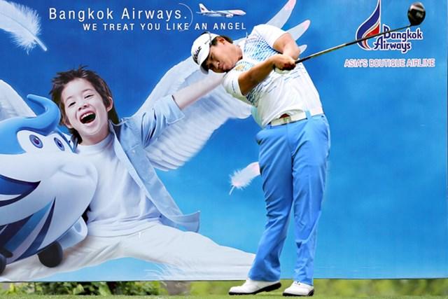 2014年 クイーンズカップ 初日 プーム・サクサンシン ホームの追い風に乗り、地元タイのプーム・サクサンシンが5アンダー単独首位に立った※画像提供:アジアンツアー