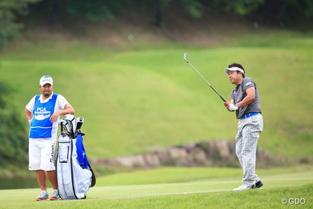 2014年 日本プロゴルフ選手権大会 日清カップヌードル杯 2日目 高山忠洋 1シーズンぶりのコンビ復活でツアー6勝目を狙う高山忠洋