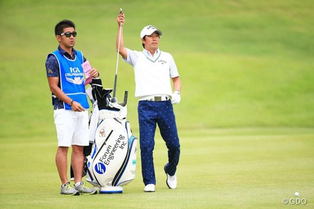 2014年 日本プロゴルフ選手権大会 日清カップヌードル杯 2日目 深堀圭一郎 得意のアイアンショットで6つのバーディを奪い3ストローク伸ばした深堀圭一郎