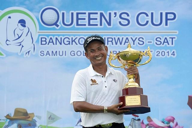2014年 クイーンズカップ 最終日 タワン・ウィラチャン 最終日の逆転でタワン・ウィラチャンが通算17勝目を挙げた※画像提供:アジアンツアー