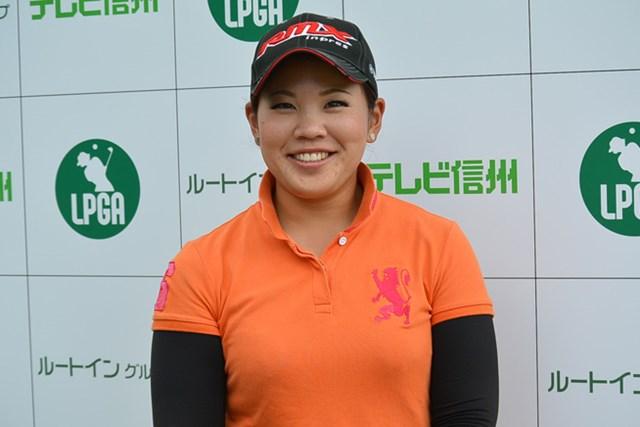 初日に5アンダーをマークし単独首位に立った森岡紋加※画像提供:日本女子プロゴルフ協会