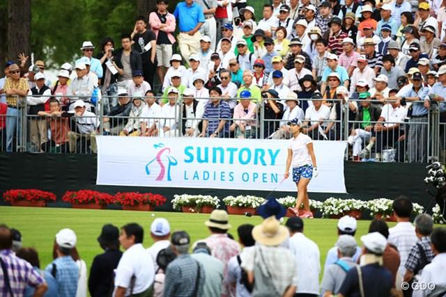 2014年 サントリーレディスオープン 2日目 上田桃子 午後組で1番からスタート