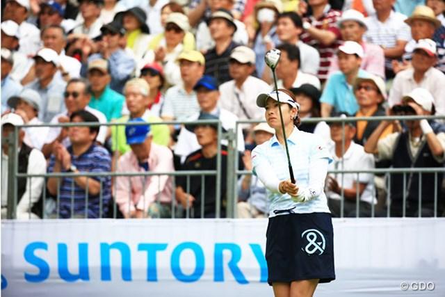 2014年 サントリーレディスオープン 2日目 森田理香子 ディフェンディングチャンピオンの2Rスタート