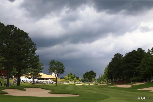 2014年 サントリーレディスオープン 2日目 曇り空 不安定な天気が続きます