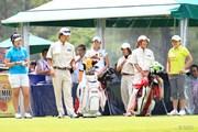 2014年 サントリーレディスオープン 3日目 (左から)佐々木笙子、森田遥、勝みなみ