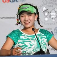 11歳のアマチュア、ルーシー・リー。開幕2日前はレクシー・トンプソンらと練習した 2014年 全米女子オープン 事前 ルーシー・リー
