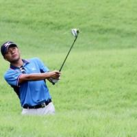 選手が口々に警戒を示すラフ。グリーン周りではウエッジのフェースに芝が絡むライも 2014年 日本ゴルフツアー選手権 森ビルカップ Shishido Hills 事前 手嶋多一
