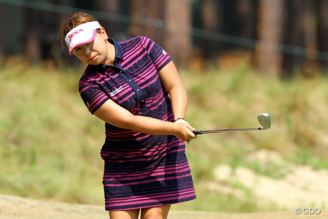 2014年 全米女子オープン 事前 吉田弓美子 初出場の吉田は前週から全米オープンの観戦もしてイメージを膨らませてきた