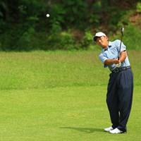 昨日のゴルフはどこへやら。ボギーを量産してしまい、1アンダー26位タイへ後退。 2014年 日本ゴルフツアー選手権 森ビルカップ Shishido Hills 2日目 細川和彦
