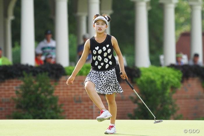 「ゴルフ命!」ですか?予選通過はならなかったが、十分な可能性を秘めた少女だ 2014年 全米女子オープン 2日目 ルーシー・リー