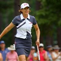 53歳のスーパーママゴルファー。今大会を最後の全米女子オープンにする意向を示していたが…? 2014年 全米女子オープン 3日目 ジュリ・インクスター