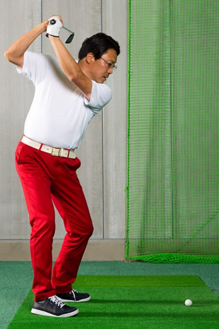 ボールに直接コンタクトするのはフェースです トップでフェース面が90度近い状態になるとオープンフェースと言える。
