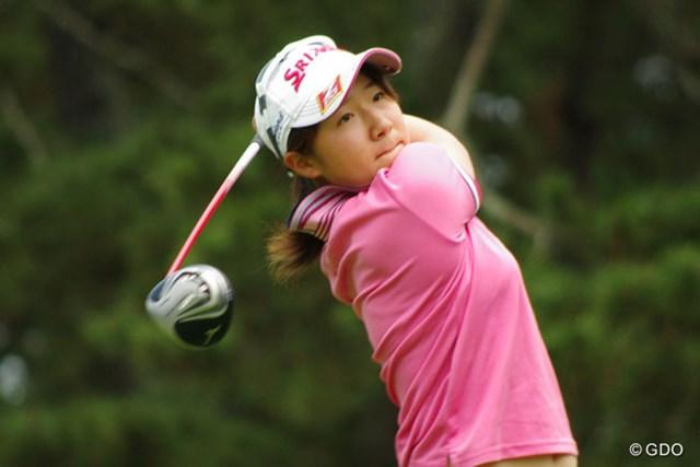 2014年 日本女子アマチュアゴルフ選手権競技 2日目 橋本千里 1日遅れの開幕となった今年の女子アマ。海外メジャー戻りの16歳・橋本千里が好発進!
