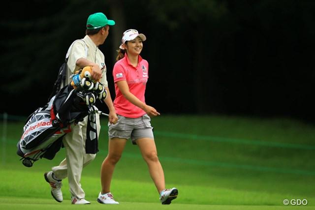 2014年 アース・モンダミンカップ 2日目 斉藤愛璃 上田・森田と同組でも臆する事なく、今日はノーボギーの素晴らしいゴルフでしたね。5アンダー13位タイです