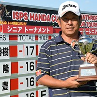 最終日「67」で逆転した加瀬秀樹が、シニア3勝目を挙げた(画像提供:日本プロゴルフ協会) 2014年 ISPS・HANDA CUP・フィランスロピーシニアトーナメント 最終日 加瀬秀樹