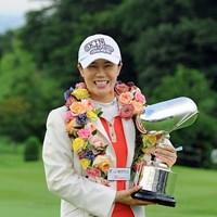 昨年大会で3日間首位を譲らず完全優勝でツアー初勝利を果たしたヤング・キム 2014年 日医工女子オープン 事前 ヤング・キム
