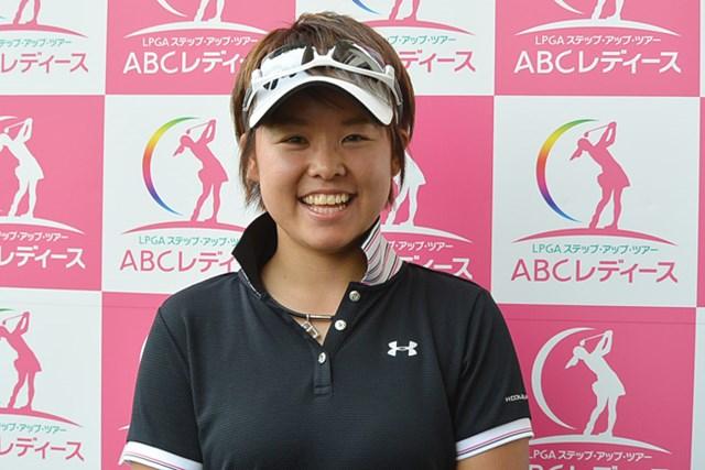大会初日、5アンダーで首位に立った山口春歌(写真提供:日本女子プロゴルフ協会)