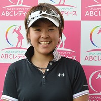 大会初日、5アンダーで首位に立った山口春歌(写真提供:日本女子プロゴルフ協会) 2014年 ABCレディース 初日 山口春歌