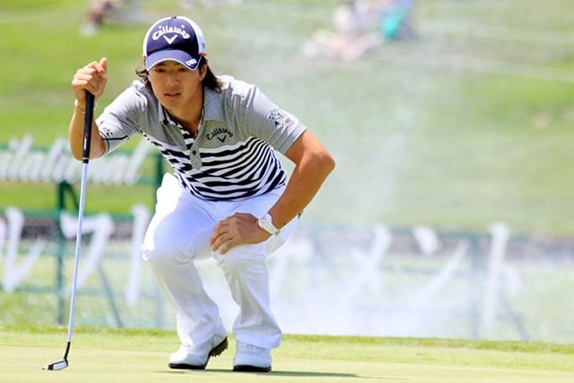 ジュニアゴルファーたちにのショートパットの心得を語った石川遼