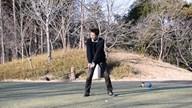 カレドニアン・ゴルフクラブ18番ホール_N村のティショット